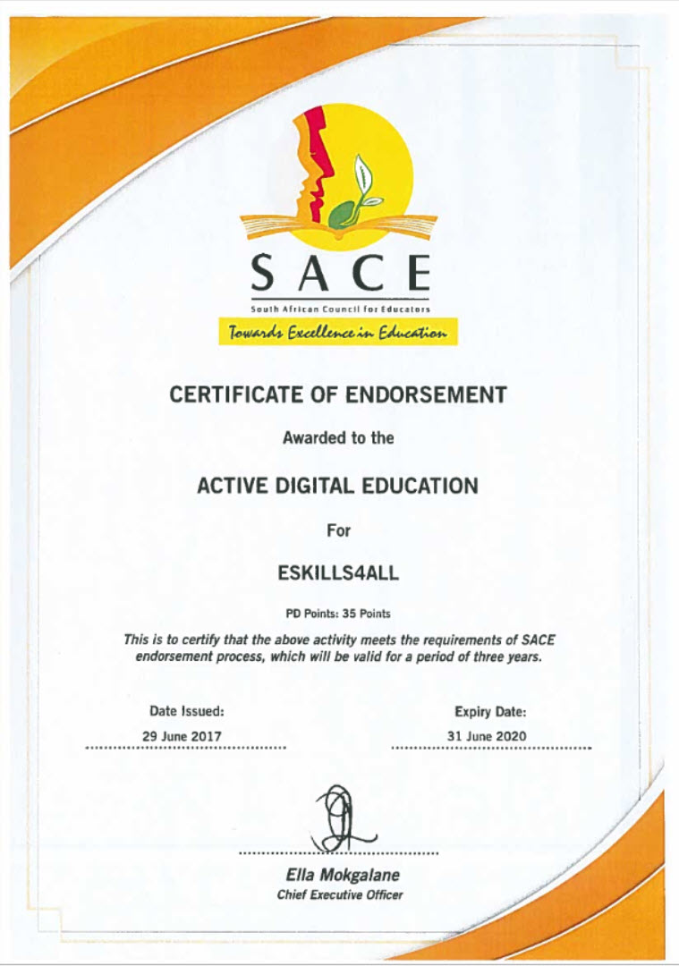 SACE accreditation