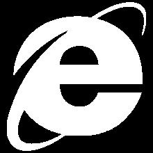 Internet Explorer Icon White